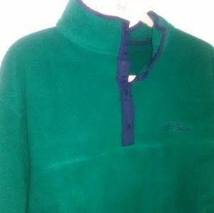 Mens LL bean fleece pullover large